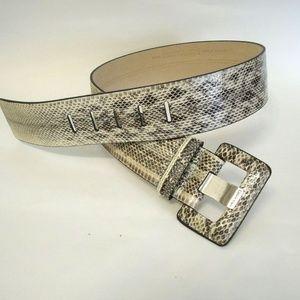 Calvin Klein Wide Genuine Snake Skin Belt - size S
